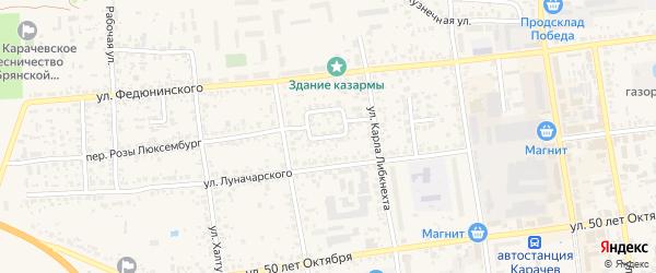 Улица Пушкина на карте Карачева с номерами домов