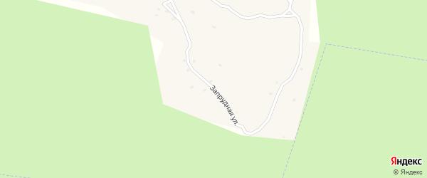 Запрудная улица на карте поселка Жучка с номерами домов