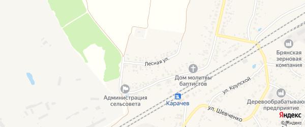Лесная улица на карте деревни Мальтиы с номерами домов