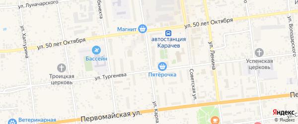 Улица Карла Маркса на карте Карачева с номерами домов
