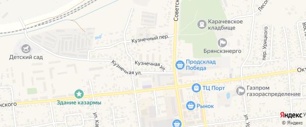 Кузнечная улица на карте Карачева с номерами домов