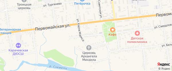 Переулок Свердлова на карте Карачева с номерами домов