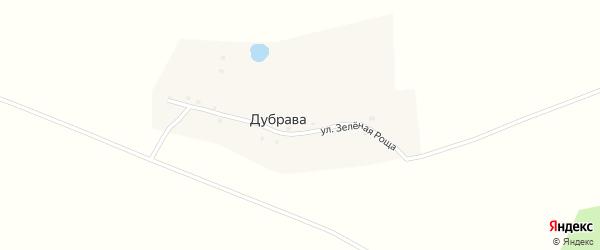 Улица Зеленая Роща на карте поселка Дубравы с номерами домов