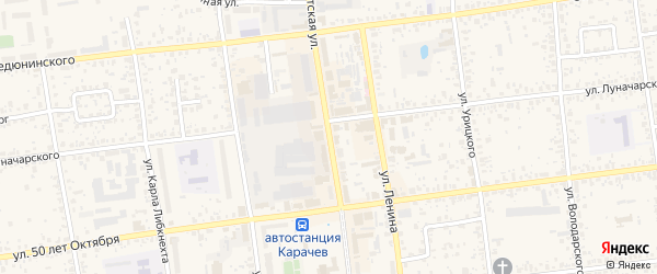 Советская улица на карте Карачева с номерами домов