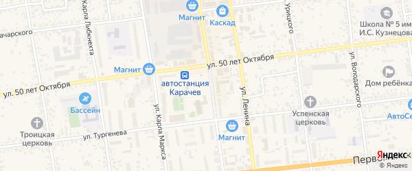 Территория сдт Работников Карачевской СЭС на карте Карачева с номерами домов