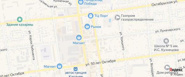 Улица Луначарского на карте Карачева с номерами домов