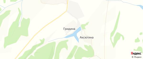 Карта деревни Гридиной в Брянской области с улицами и номерами домов