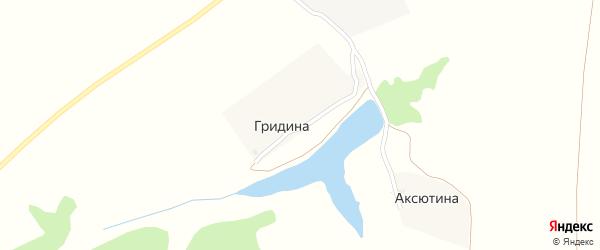 Лесная улица на карте деревни Гридиной с номерами домов