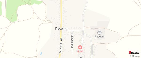 Улица Капитана Приходько на карте деревни Песочни с номерами домов
