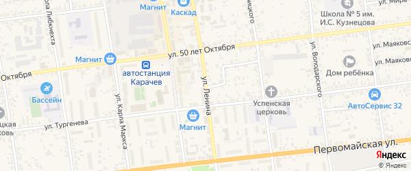 Улица Ленина на карте Карачева с номерами домов
