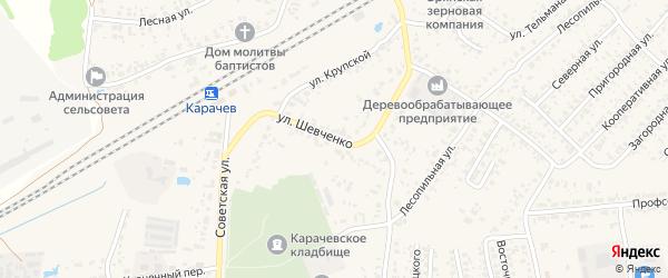 Улица Шевченко на карте Карачева с номерами домов