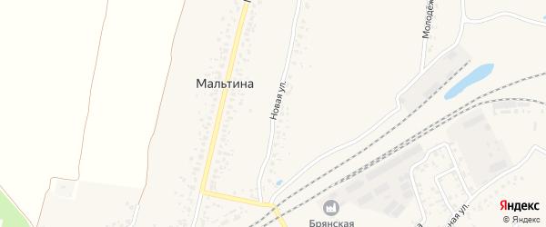 Новая улица на карте деревни Мальтиы с номерами домов