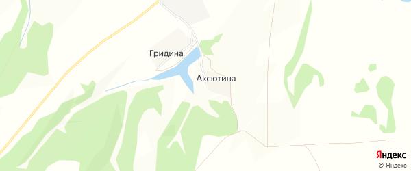 Карта деревни Аксютиной в Брянской области с улицами и номерами домов