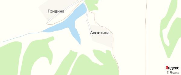 Нагорная улица на карте деревни Аксютиной с номерами домов