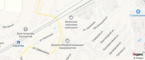 Переулок Тельмана на карте Карачева с номерами домов