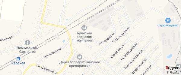 Улица Тельмана на карте Карачева с номерами домов