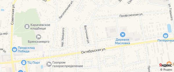 Восточная улица на карте Карачева с номерами домов