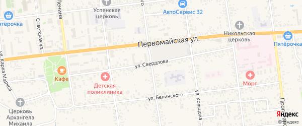 Улица Свердлова на карте Карачева с номерами домов