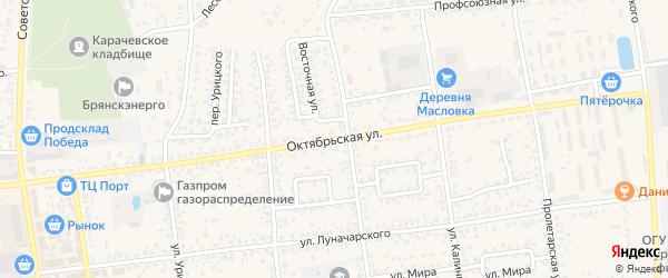 Октябрьская улица на карте Вельяминовской деревни с номерами домов