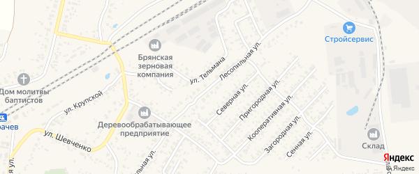 Лесопильная улица на карте Карачева с номерами домов