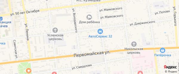 Переулок Кольцова на карте Карачева с номерами домов