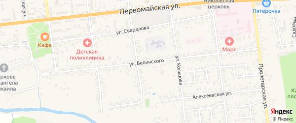 Улица Белинского на карте Карачева с номерами домов
