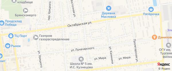 Брянская улица на карте Карачева с номерами домов