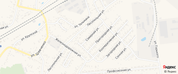 Северная улица на карте Карачева с номерами домов