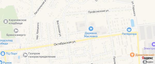 Заводская улица на карте Карачева с номерами домов
