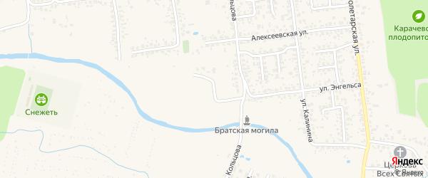 Речной переулок на карте Карачева с номерами домов
