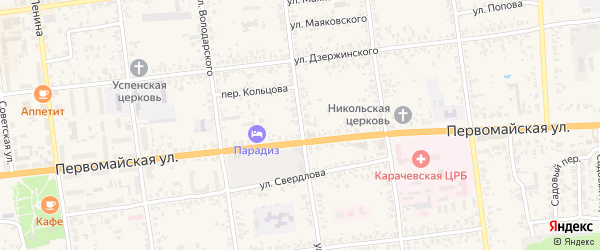 Улица Кольцова на карте Карачева с номерами домов