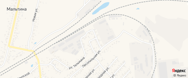 Лесопильный переулок на карте Карачева с номерами домов