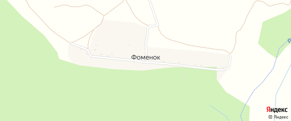 Лесная улица на карте поселка Фоменка с номерами домов