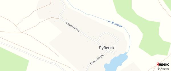 Садовая улица на карте деревни Лубенска с номерами домов