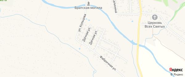 Дачная улица на карте Карачева с номерами домов