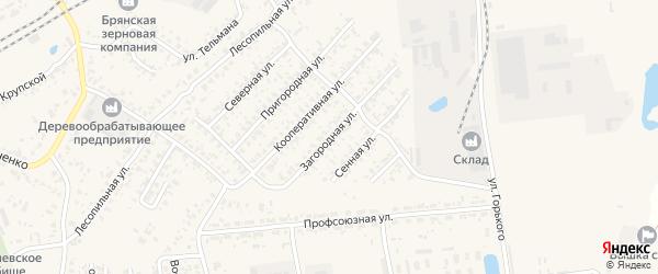 Загородная улица на карте Карачева с номерами домов