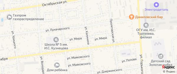 Улица Мира на карте Карачева с номерами домов
