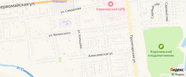 Южная улица на карте Карачева с номерами домов