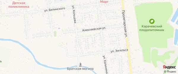 Переулок Калинина на карте Карачева с номерами домов