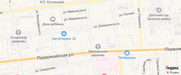 Улица Калинина на карте Карачева с номерами домов