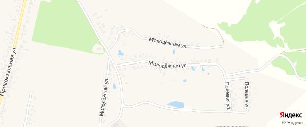 Молодежная улица на карте деревни Мальтиы с номерами домов