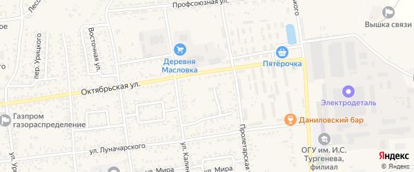 Пролетарский проезд на карте Карачева с номерами домов