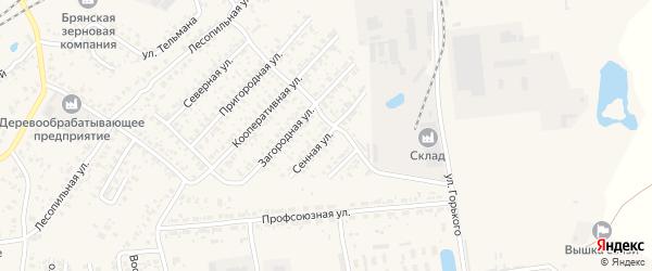 Сенная улица на карте Карачева с номерами домов