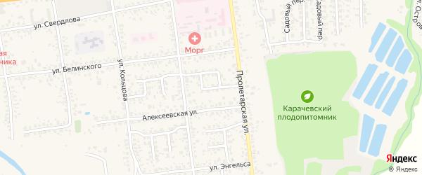 Улица Зои Космодемьянской на карте Карачева с номерами домов