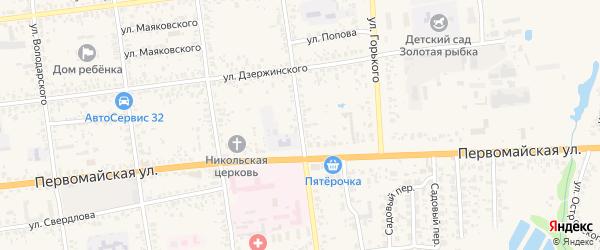 Пролетарская улица на карте Карачева с номерами домов