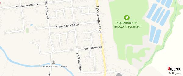 Переулок Энгельса на карте Карачева с номерами домов