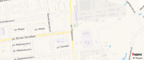 Улица Горького на карте Карачева с номерами домов