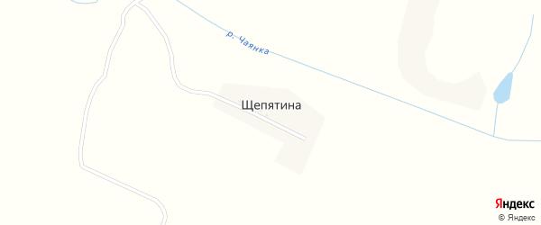 Лесная улица на карте деревни Щепятины с номерами домов