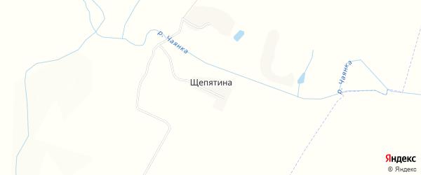Карта деревни Щепятины в Брянской области с улицами и номерами домов
