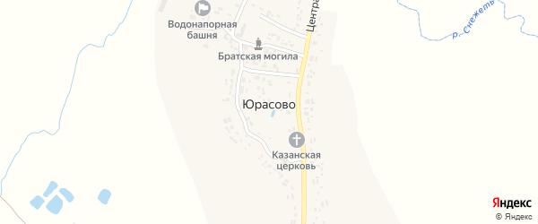 Садовый переулок на карте села Юрасово с номерами домов